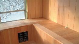 ヒノキ流水風呂 浴槽